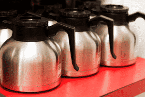 coffee maker with stainless steel thermal carafe